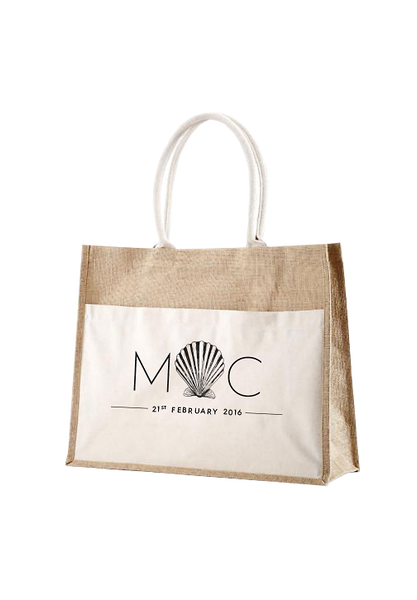 Monogramed Panama Bag