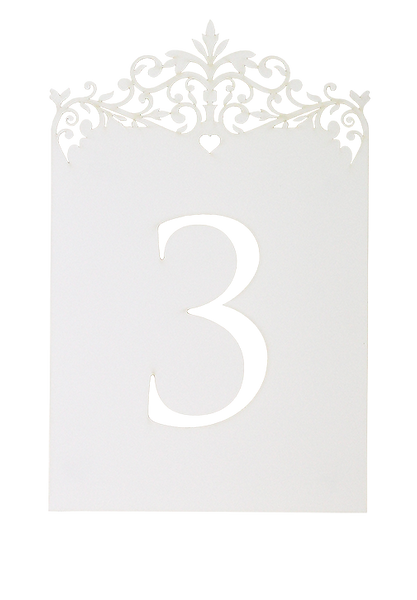 Palace Garden Table Number