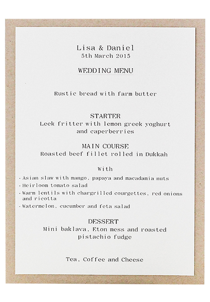 Typewriter Menu