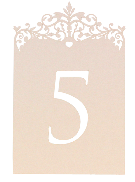 Palace Garden Table Number - Pink