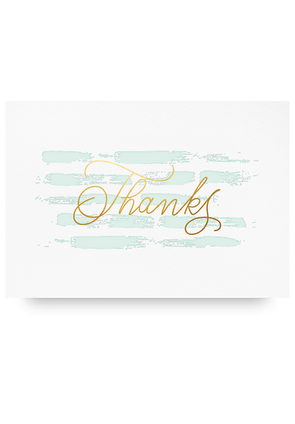 Thank You Letter Pressed Card