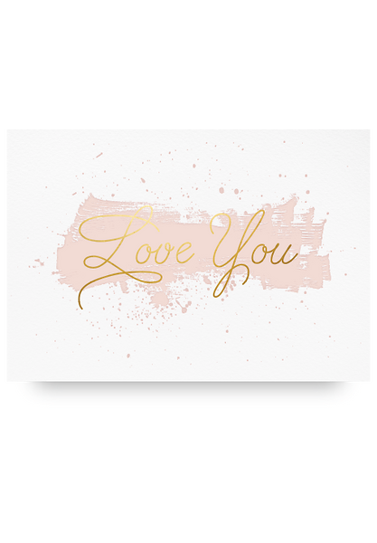 Love You Letter Pressed Card