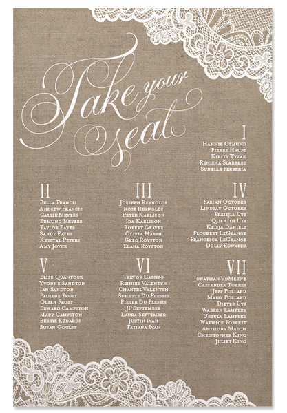 Lola Lace Seating Chart