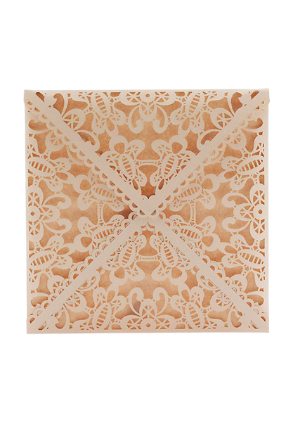 Lace Envelope Square - Nude Pink