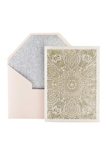 Ethereal Invitation - Blush and Silver
