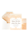 Lovely Lace Invitation - Peach