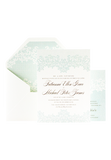 Lovely Lace Invitation - Duck Egg Blue