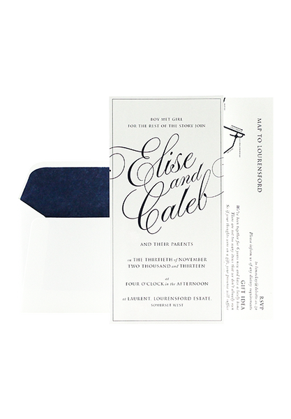 Lara Invitation - Navy
