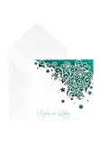 Daisy Chain Invitation - Teal