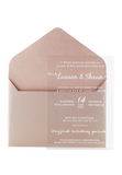Clearly Love Perspex Invitation