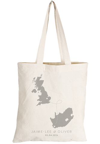 Our Love Travels Tote Bag