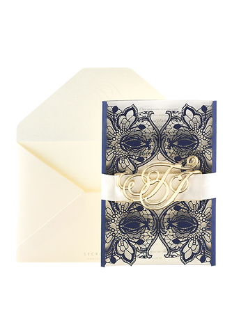 French Whimsy - Navy and Cream