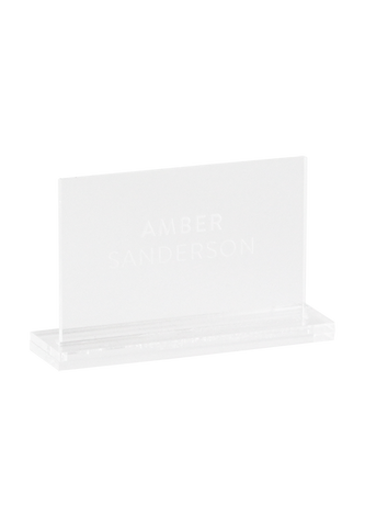 Lucite Place Card - Clear Perspex