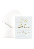 Glitter Showers Invitation - Mint