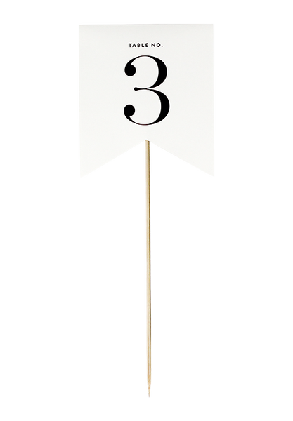 Flirty Flag Table Number - Cream