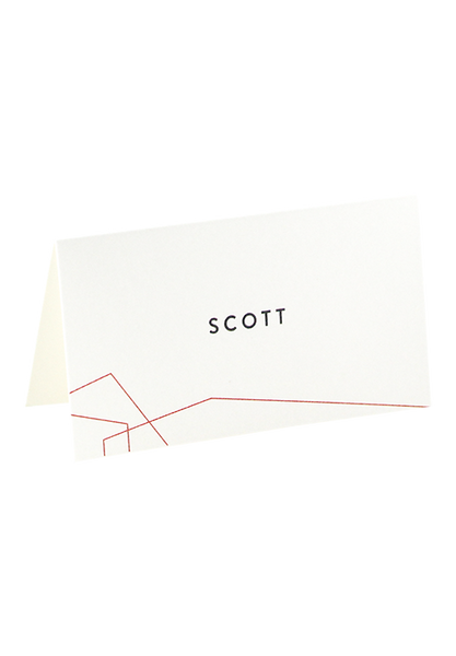 Equilateral Place Card