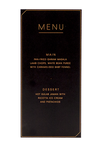 Modern Muse Menu Black Edition