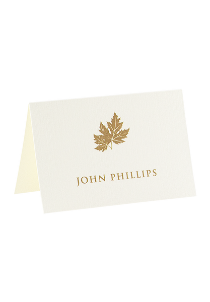 Golden Leaf Place Card