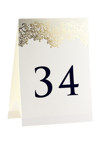 Gold Lace Menu & Table Number