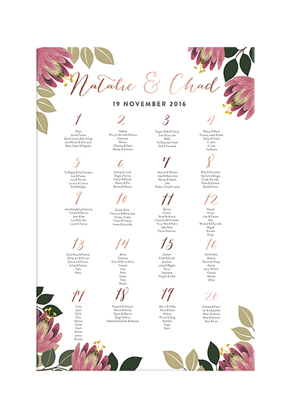 Bloem Seating Chart
