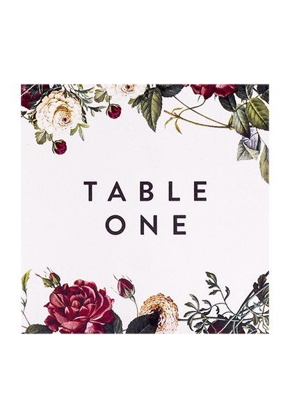 Berry Rose Table Number