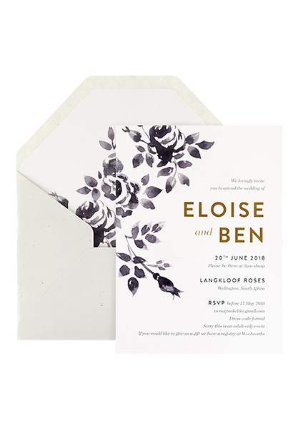Indigo Rose Invitation