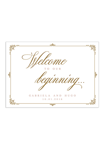 A Captivating Voyage Welcome Sign