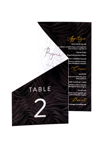 Palm Beach - Program, Menu and Table Number Combo