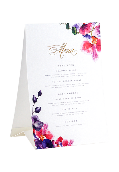 Farah Tented Menu