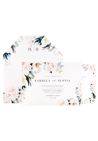Pale Blooms Invitation