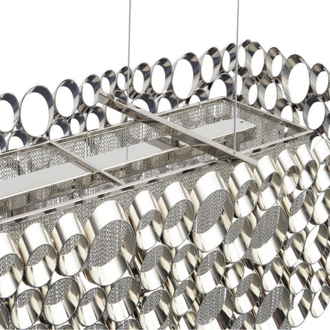Venus Nickel Rectangular Chandelier G9 40W