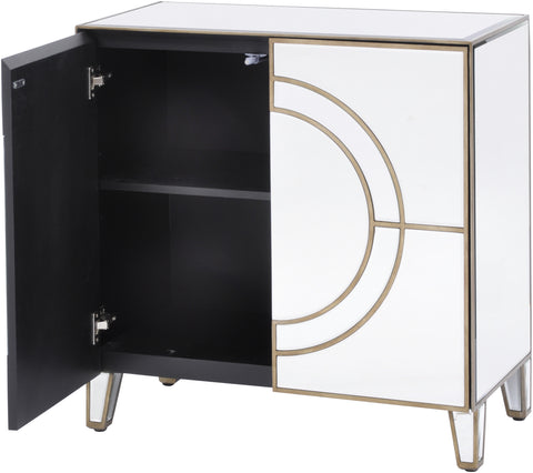 Claridge Circle Link 2 Door Mirrored Cabinet