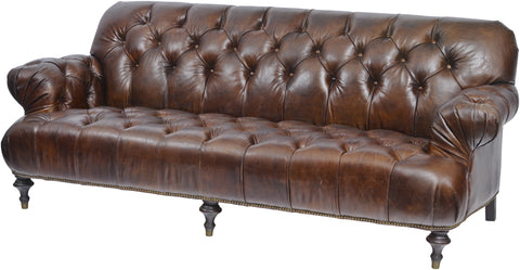 Fitzgerald Vintage Brown Leather 3 Seater Sofa 701231