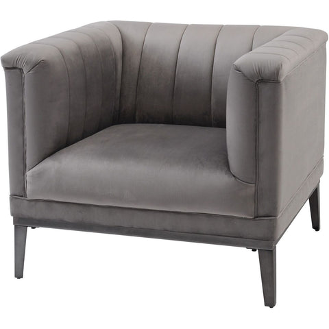 Belgravia Grey Ribbed Occasional Chair