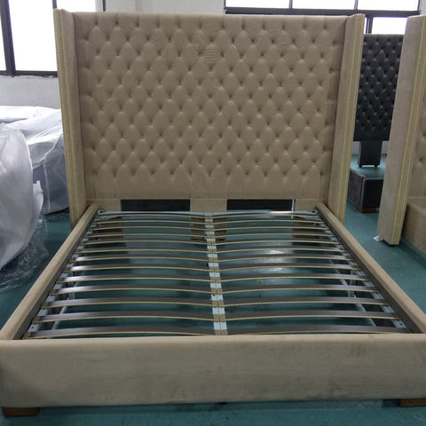 Aprilia Cream Button Back Super King Size Bed Frame