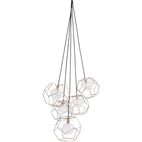 Apus Pentagon Hanging Pendant Light LED G9 5W 5