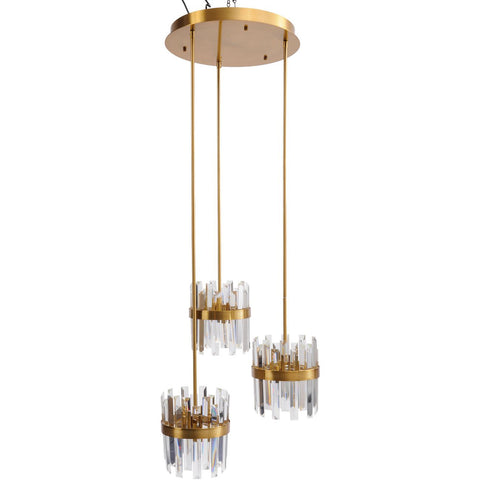 Set Of Three Crystal Pendant Lights E14 40W 12