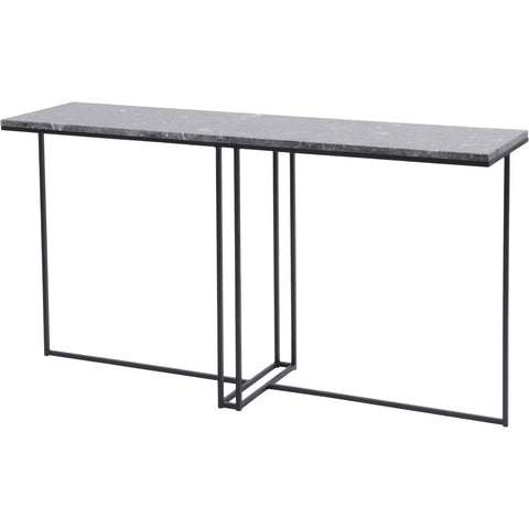 Shoreditch Black Metal and Grey Travisso Console Table