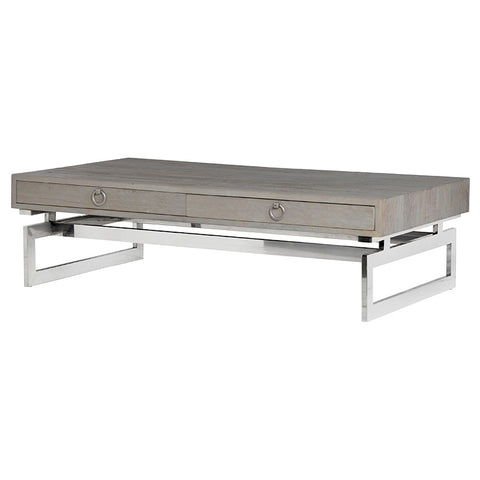 Coffee Table with Stainless Steel Base