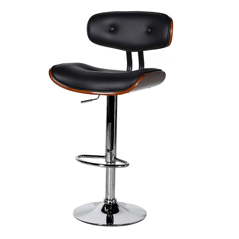 Black Seat Adjustable Bar Stool