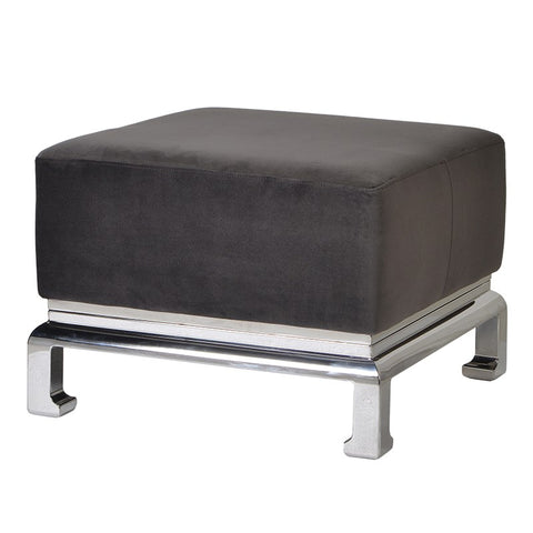 Black and Stainless Steel Foot Stool