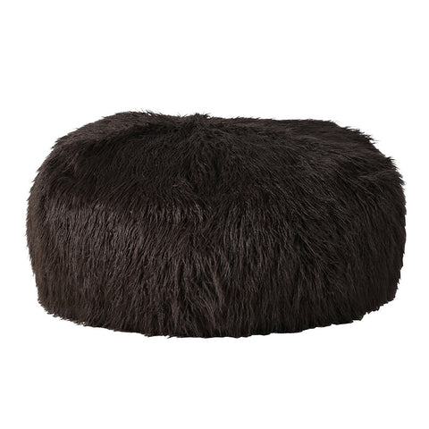 Brown Furry Beanbag