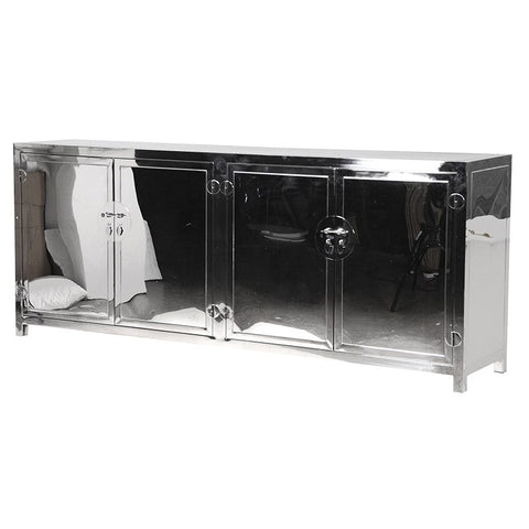 Chrome 4 Door Sideboard
