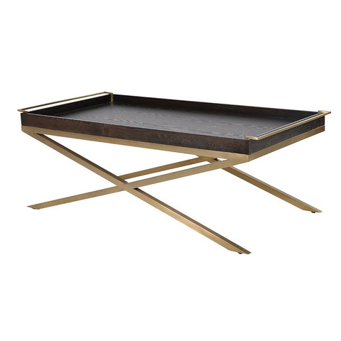 Black and Gold Tray Coffee Table