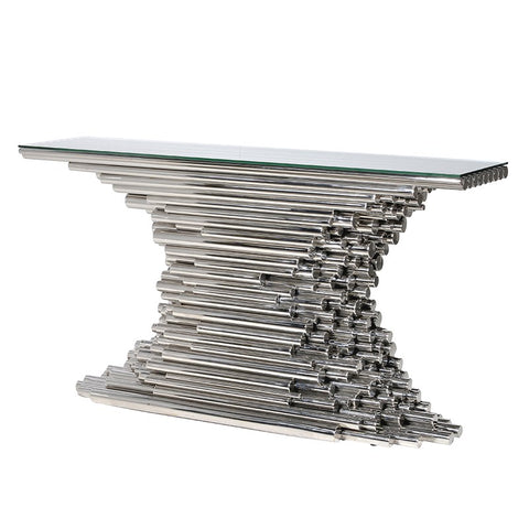 Chrome Tubes Console Table