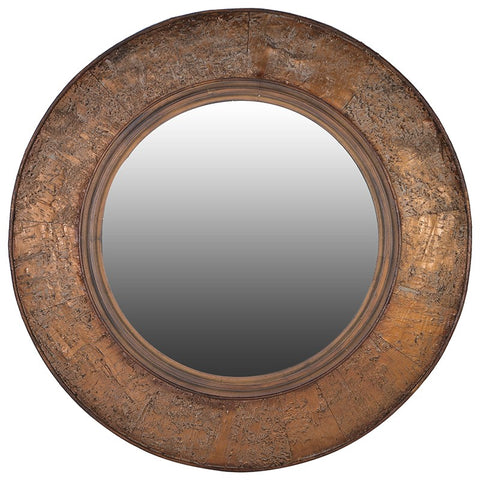 Bark Edge Round Mirror