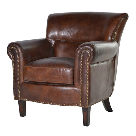 Classic vintage tan Leather Armchair
