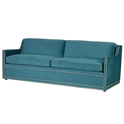 Teal Velvet 3 Seater Studded Sofa