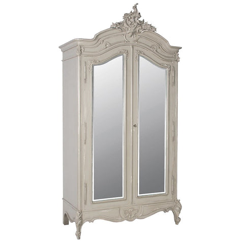 Portofino 2 Door Mirrored Armoire