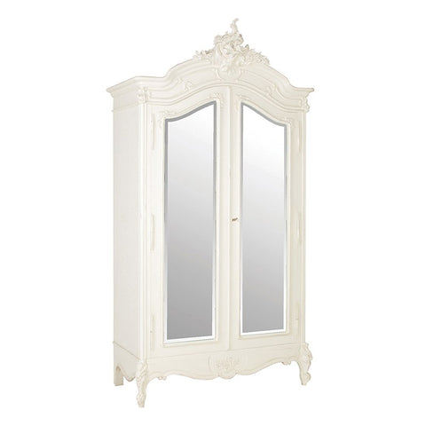 2 Door Mirrored Armoire